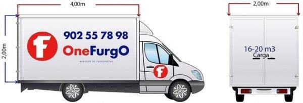 alquiler de furgoneta de carga carrozado