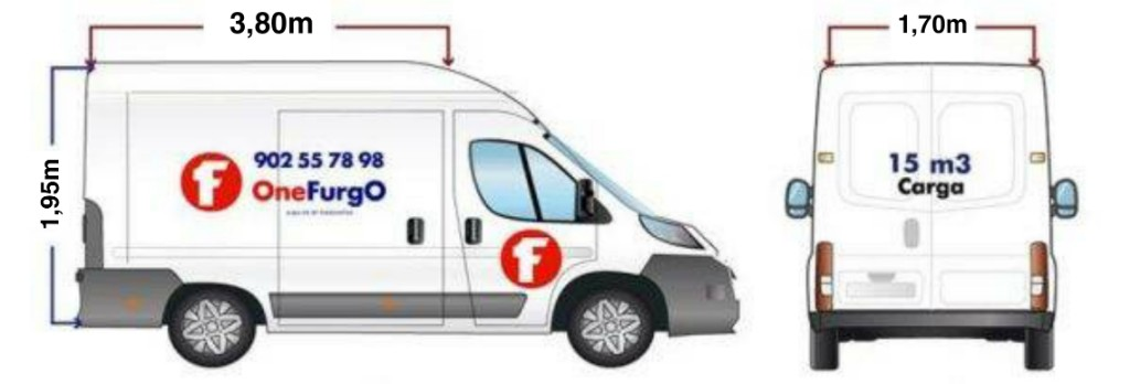 Alquiler de furgoneta extragrande